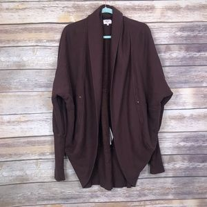 Wilfred cocoon brown metal studded cardigan L